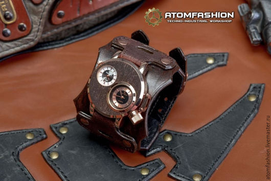 """Часы ручной работы. Ярмарка Мастеров - ручная работа. Купить Мужские стимпанк часы """"Медный голем"""". Handmade. Часы"""
