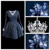 """Одежда ручной работы. Ярмарка Мастеров - ручная работа Платье """"Королевская Лилия"""". Handmade."""