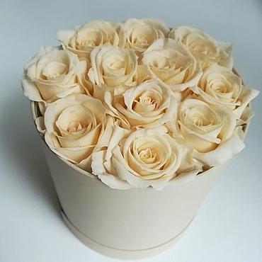 Свадебный салон ручной работы. Ярмарка Мастеров - ручная работа Розы в коробке 11 штук. Handmade.