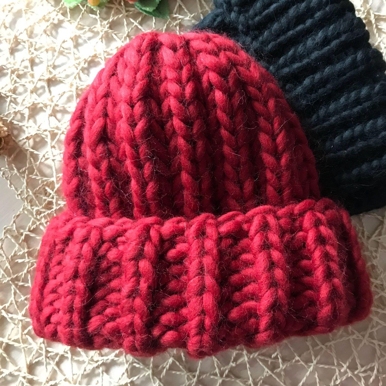 Связать шапку перуанской шерстью