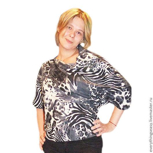 асимметричная блузка ручной работы