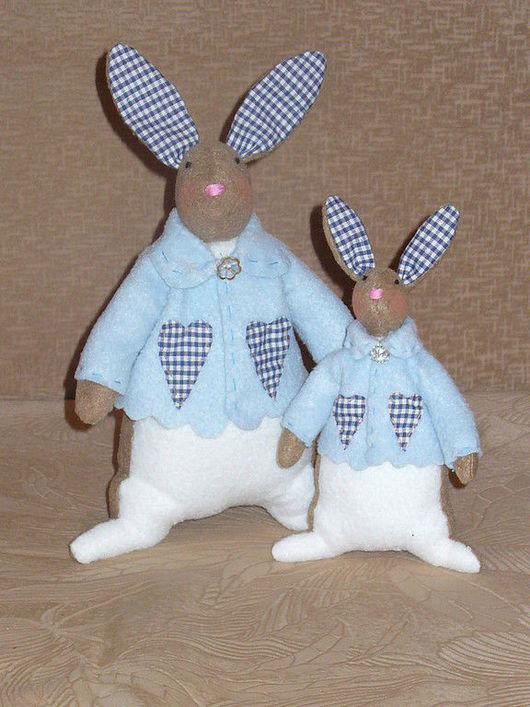Куклы Тильды ручной работы. Ярмарка Мастеров - ручная работа. Купить Зайчишки. Handmade. Хлопок, синтепон, флис