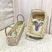 Для дома и интерьера handmade. Livemaster - original item Kitchen sets:Rectangular storage baskets in PROVENCE style. Handmade.