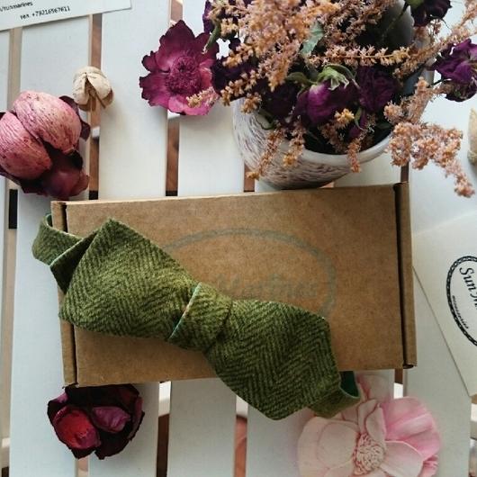Галстуки, бабочки ручной работы. Ярмарка Мастеров - ручная работа. Купить Двусторонняя галстук-бабочка Зеленый сад. Самовяз.. Handmade.