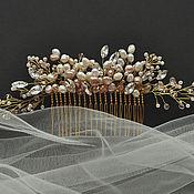 Свадебный салон ручной работы. Ярмарка Мастеров - ручная работа жемчужный гребень в прическу. Handmade.