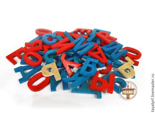 Развивающие игрушки ручной работы. Ярмарка Мастеров - ручная работа. Купить Магнитные деревянные буквы. Handmade. Комбинированный, холодильник