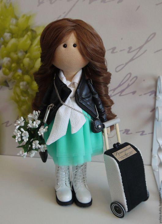 Коллекционные куклы ручной работы. Ярмарка Мастеров - ручная работа. Купить Текстильная куколка- малышка Кайли. Handmade. Бледно-розовый