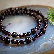 Украшения handmade. Livemaster - original item Beads-garnet, silver 925. Handmade.