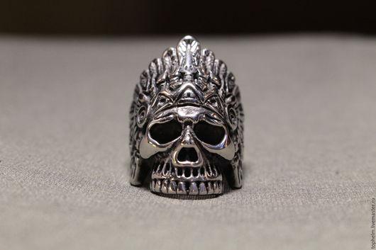 Кольца ручной работы. Ярмарка Мастеров - ручная работа. Купить Кольцо Череп Ацтека / Aztec Skull Ring. Handmade.