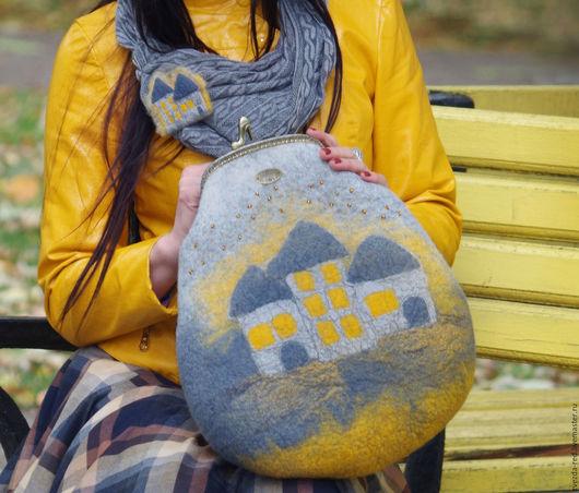 """Женские сумки ручной работы. Ярмарка Мастеров - ручная работа. Купить сумка """"Свет в твоём окне"""". Handmade. Серый"""