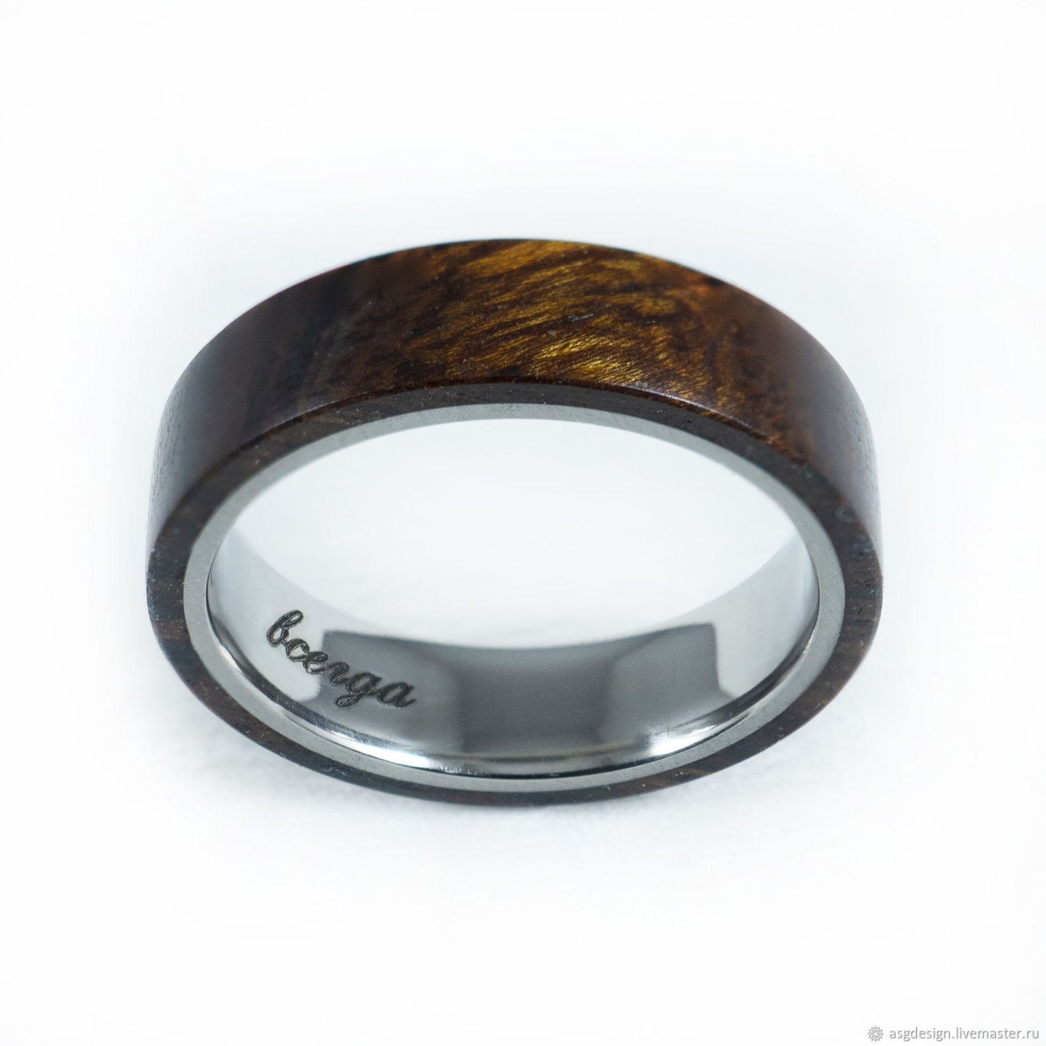 The ring of titanium and iron wood, Rings, Moscow,  Фото №1