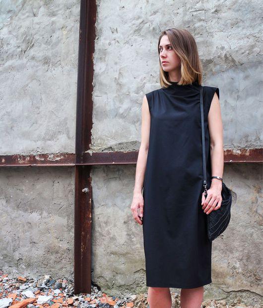 Платья ручной работы. Ярмарка Мастеров - ручная работа. Купить Платье с воротом. Handmade. Платье, дизайнерская одежда, необычное платье
