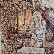 """Картины и панно ручной работы. Ярмарка Мастеров - ручная работа Картина """"""""...И оживали строки"""". Handmade."""
