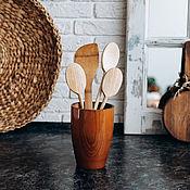 Посуда handmade. Livemaster - original item Stand (holder) for shovels, spoons from Siberian cedar C28. Handmade.