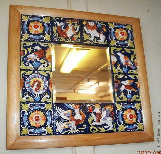 Зеркала ручной работы. Ярмарка Мастеров - ручная работа. Купить зеркало         керамическое. Handmade. Украшение интерьера, изразцовый декор