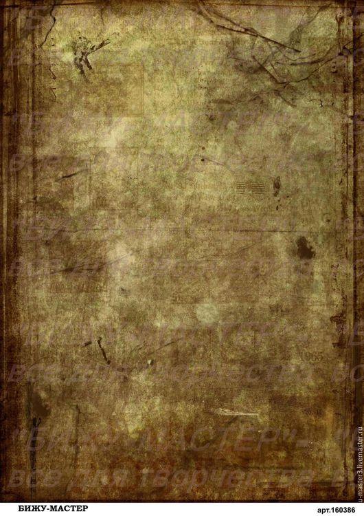 Декупаж и роспись ручной работы. Ярмарка Мастеров - ручная работа. Купить Рисовая бумага для декупажа А4 арт.160386 Темный фон под старину, Бижу. Handmade.