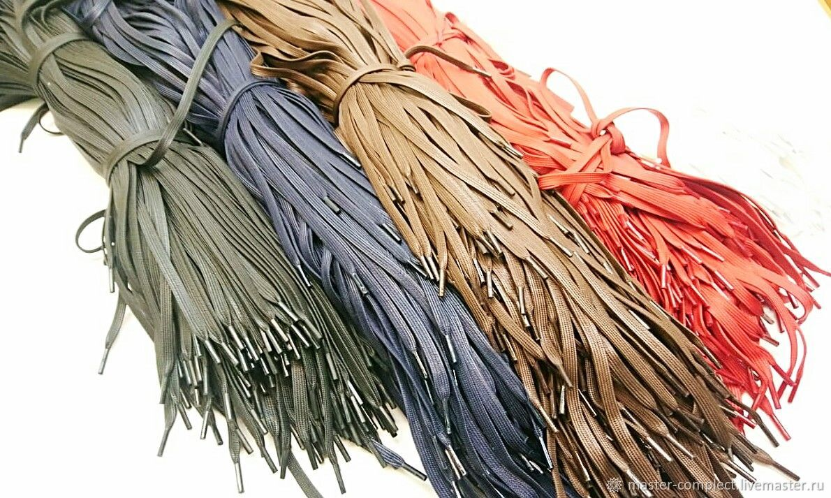 Polished flat laces, Materials for making shoes, Moscow,  Фото №1