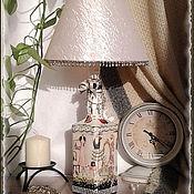 """Сувениры и подарки ручной работы. Ярмарка Мастеров - ручная работа настольный светильник из бутылки  """"Гламурный"""". Handmade."""