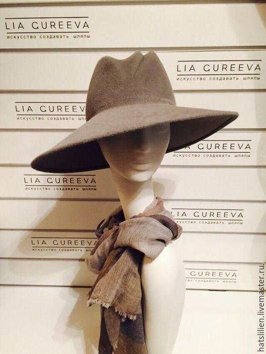 """Шляпы ручной работы. Ярмарка Мастеров - ручная работа. Купить Велюровая шляпа """"Стефани"""". Handmade. Бежевый, для женщины, головной аксессуар"""