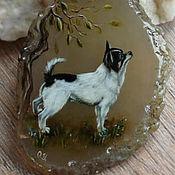 Украшения ручной работы. Ярмарка Мастеров - ручная работа Кулон с собакой. Handmade.