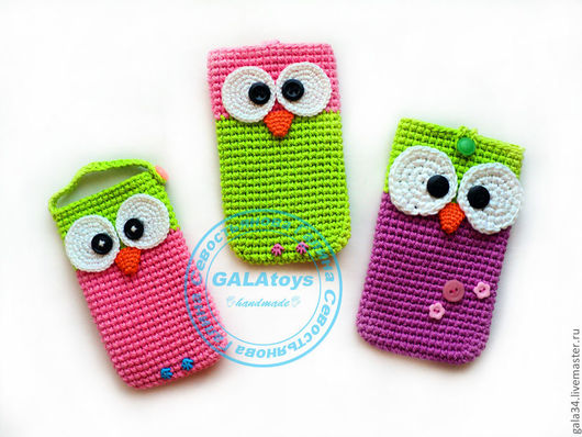 For Phones handmade. Livemaster - handmade. Buy cell phone.Phone case, knitted cover, the bird of happiness