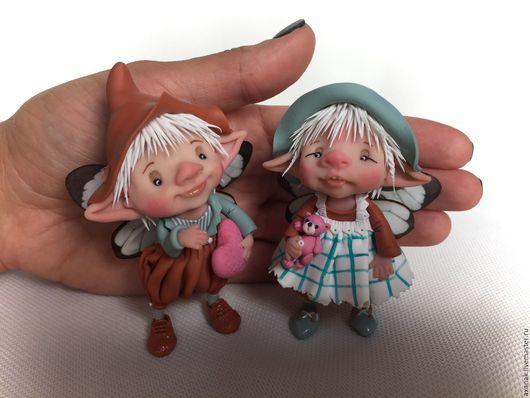 Коллекционные куклы ручной работы. Ярмарка Мастеров - ручная работа. Купить Матильда и Уильям. Handmade. Коричневый, сказочный персонаж