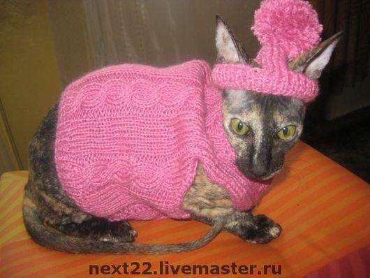 """Одежда для кошек, ручной работы. Ярмарка Мастеров - ручная работа. Купить Комплект  """"Розовый гламур"""". Handmade. Одежда для кошек"""