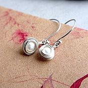 handmade. Livemaster - original item Earrings of pearl and 925 sterling silver. Handmade.