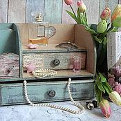 Для дома и интерьера handmade. Livemaster - original item Chest of drawers-bureau Beautiful storage . A chest of drawers decoupage. Handmade.