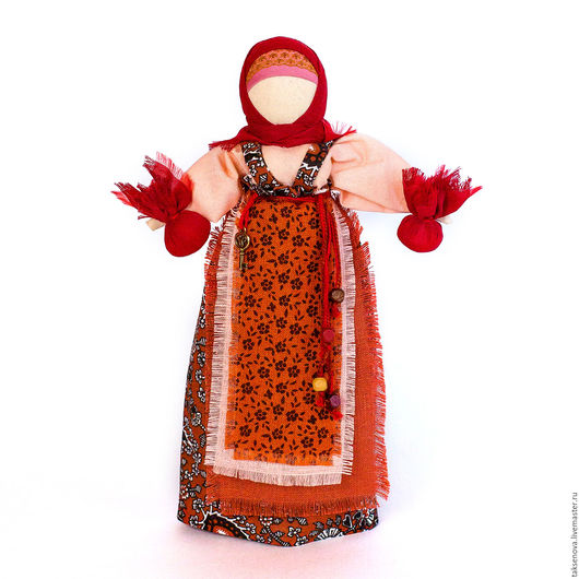 Народные куклы ручной работы. Ярмарка Мастеров - ручная работа. Купить текстильная кукла  оберег Берегиня. Handmade. Комбинированный, лен