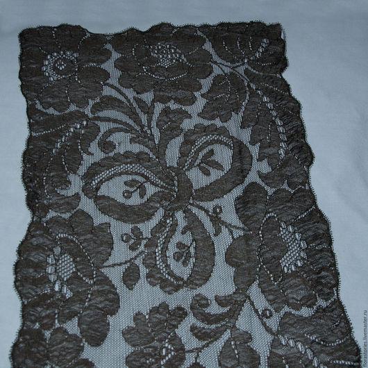 Винтажная одежда и аксессуары. Ярмарка Мастеров - ручная работа. Купить Шелковый французский шарф. Handmade. Черный, кружево антикварное