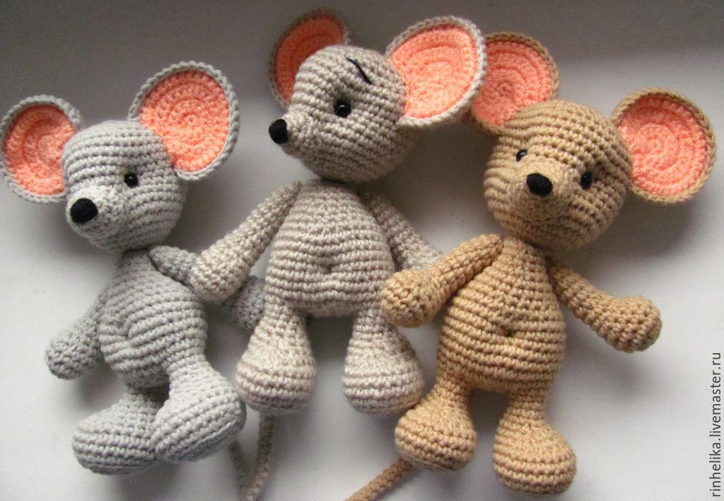 Схема вязания мышонка крючком