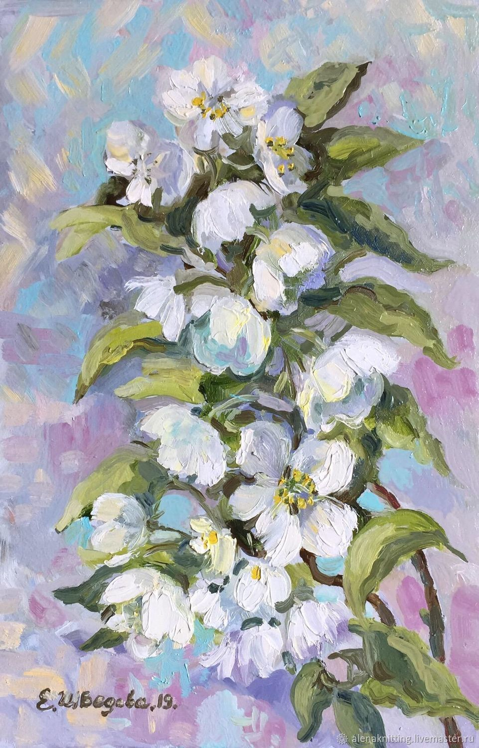 Oil painting 'Flowering twig», Pictures, Moscow,  Фото №1