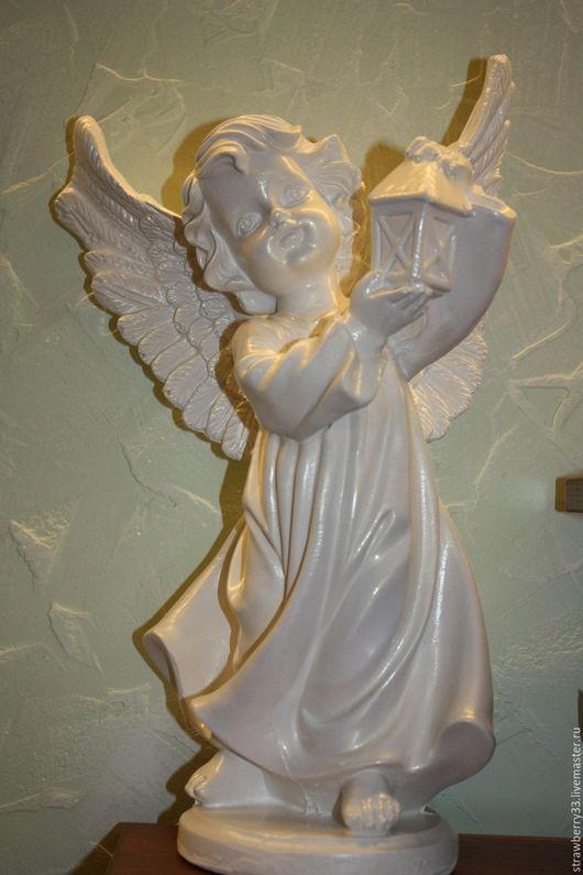 """Статуэтки ручной работы. Ярмарка Мастеров - ручная работа. Купить Статуэтка """"Ангел с фонарем"""". Handmade. Статуэтка, рождественский подарок"""