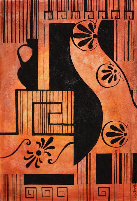 Абстракция ручной работы. Ярмарка Мастеров - ручная работа. Купить Картина Графика. Солнечная Абстракция. Handmade. Декоративная, оранжевый, желтый