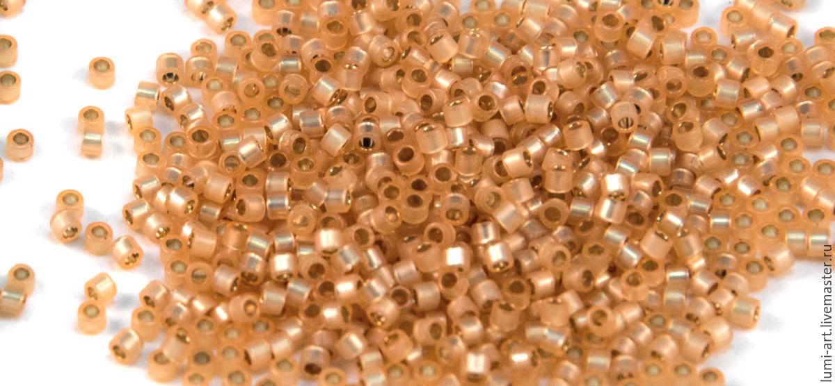 Для украшений ручной работы. Ярмарка Мастеров - ручная работа. Купить Delica DB-621 Opal Light Peach SL Японский бисер Делика Миюки 5 гр. Handmade.