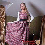 Одежда handmade. Livemaster - original item Sundress Lyubava patterned. Handmade.