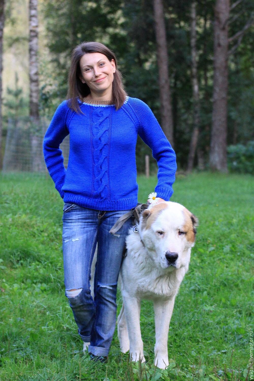 Свитер женский синий