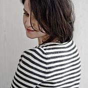 Одежда ручной работы. Ярмарка Мастеров - ручная работа Тельняшка женская (Go-Go Stripe). Handmade.