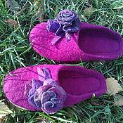 """Обувь ручной работы. Ярмарка Мастеров - ручная работа Тапочки валяные обувь ручной работы """"Бутоньерки"""". Handmade."""