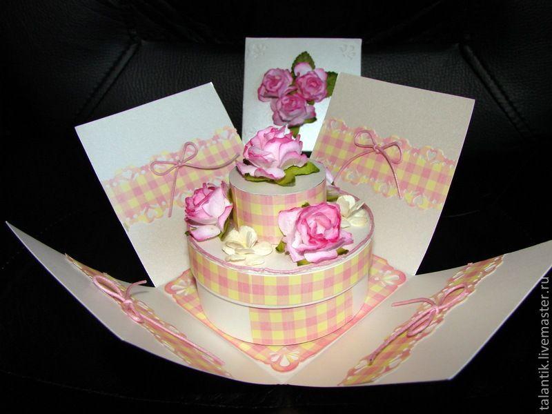 Как сделать открытку с тортики видео, для открытки прозрачном