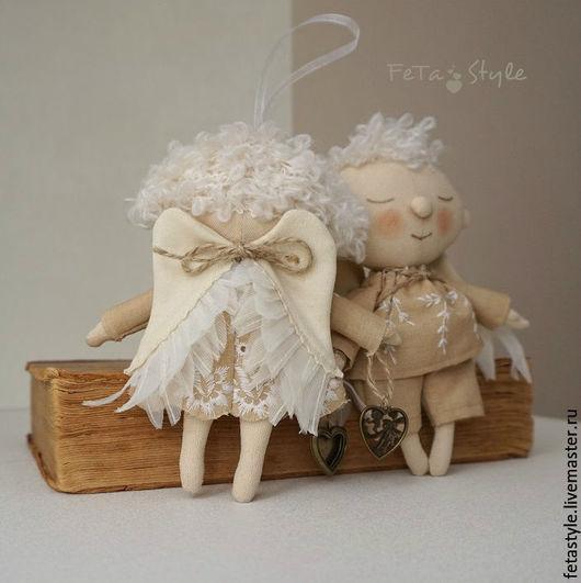 Сказочные персонажи ручной работы. Ярмарка Мастеров - ручная работа. Купить Ангелы прилетели Куклы текстильные. Handmade. Ангел, ангелочек