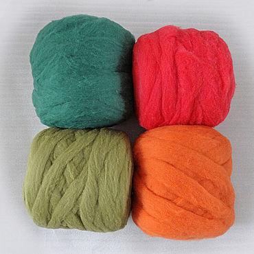 Materials for creativity handmade. Livemaster - original item Merino sliver 12 colors. Handmade.