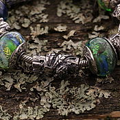 """Украшения ручной работы. Ярмарка Мастеров - ручная работа """"Стрекоза"""" серебряная бусина для браслетов. Handmade."""