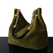 Classic Bag handmade. Livemaster - original item Granville Olive bag made of genuine leather Luxury. Handmade.