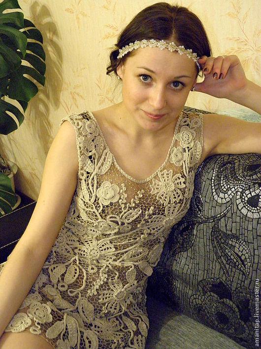 Платья ручной работы. Ярмарка Мастеров - ручная работа. Купить Платье для Ирины ирландское кружево в винтажном стиле. Handmade. Платье