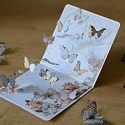 Открытки ручной работы. Ярмарка Мастеров - ручная работа Открытка ручной работы с бабочками. Handmade.
