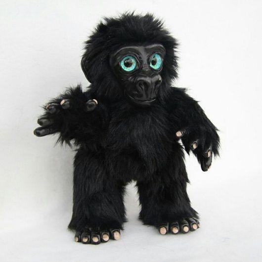 Куклы и игрушки ручной работы. Ярмарка Мастеров - ручная работа. Купить Детеныш гориллы. Handmade. Горилла, полимерная глина