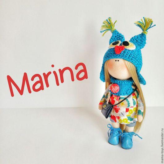 Коллекционные куклы ручной работы. Ярмарка Мастеров - ручная работа. Купить Марина. Handmade. Интерьерная кукла, блондинка, голубой, принцесса