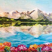 Картины и панно handmade. Livemaster - original item Oil painting: LAKE GENEVA, Switzerland, 50h40, impressionism. Handmade.